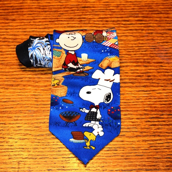 aa58137a2262 Salant Menswear Group Accessories | Rare Snoopy Gang Silk Tie | Poshmark